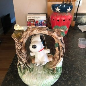 Avita Snoopy on a swing figurine